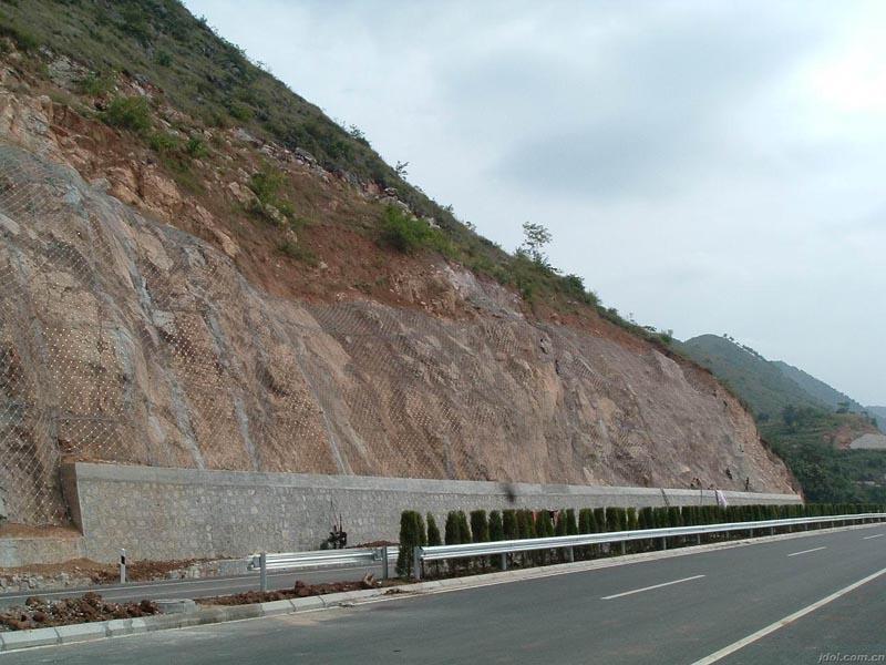 宁绩高速公路边坡防护工程